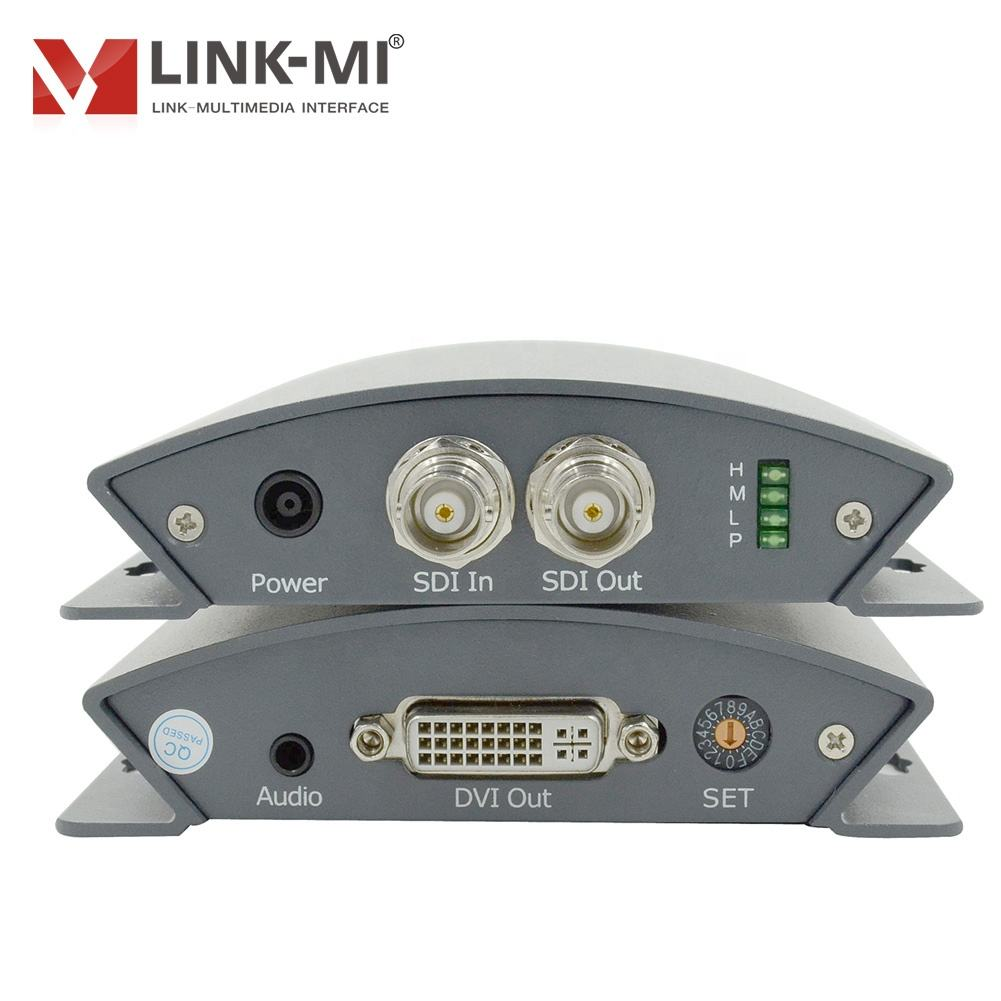 LINK-MI 1x2 SDI to DVI Converter Resolution up to 1080P Easy to Carry