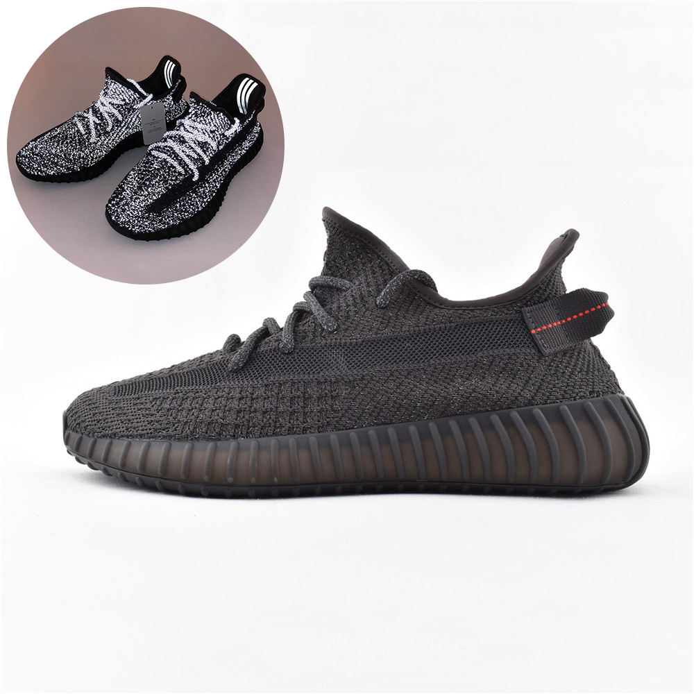 Original Yeezy Running Shoes Casual Sport Shoes Sneakers 350 V2 Running Putian Shoes Original Logo Boxes Size US 4-13