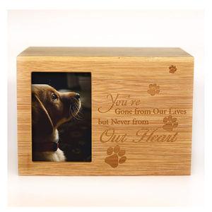 Caja Memorial Cenizas memoria ataúd de madera recuerdo caso Personalizado De Madera Mascota Urna