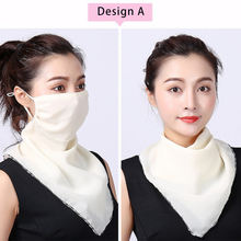 2020 New design Soft Chiffon ladies kerchief sun protect multi band scarf protective scarf  summer scarf for women