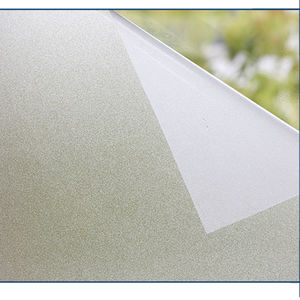Home Decor Privacy Vinyl Roll White Glass Decorative Pvc Frosted Static Cling window film static