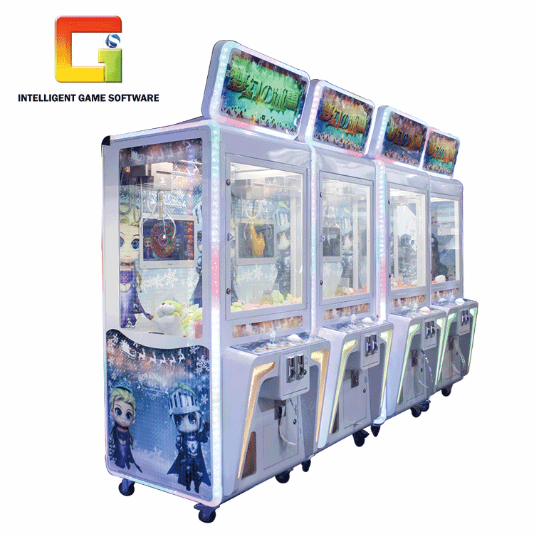 Factory Price Coin Operated Mini Doll Vending Toy Crane Push Claw Machine