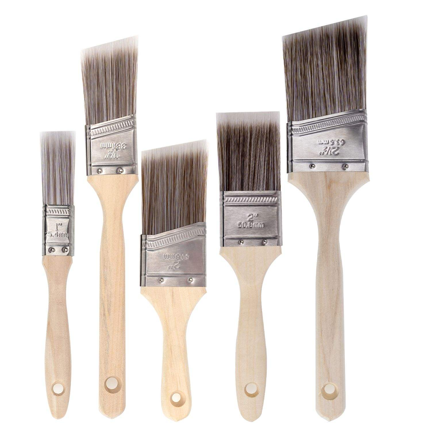 Paint Brushes - 5 Ea - Paint Brush Set