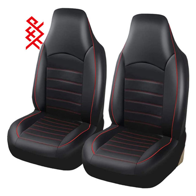 Universal Car Seat Covers PU Leather Front Seat Covers Car Seat Covers with High Back Bucket Fashion Style Car Seat Covers