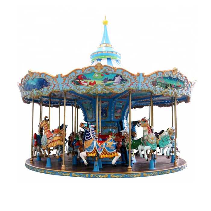 Fun park rides kids amusement equipment carousel horse ride