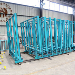 Auto glass rack, automatic glass storage racks for glass warehouse factory with remote control or panel control