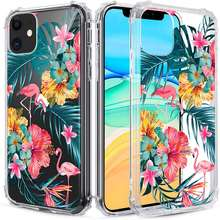 Clear Case for iPhone 11 Pro Max Floral Clear Flower Floral Pattern Design for Girls Women Girly Cute Slim Soft TPU Transparent