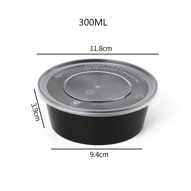 Reusable Plastic Round Plastic Bento Lunch Box Meal Prep Containers With Lids