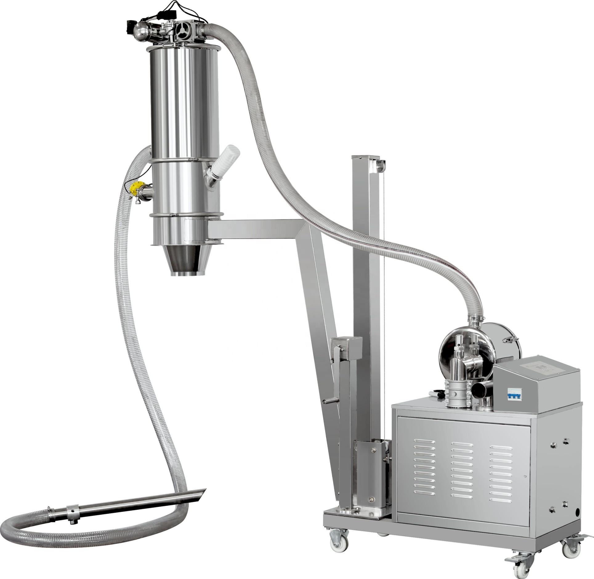 Yeast powder suction conveyor machine yam flour qvc feeder whole milk and granules vacuum