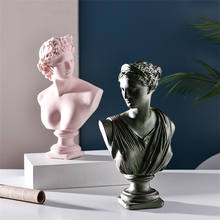 Molandi Color Resin-Plaster Heads Of David And Venus Sketches Human Sculptures Statue