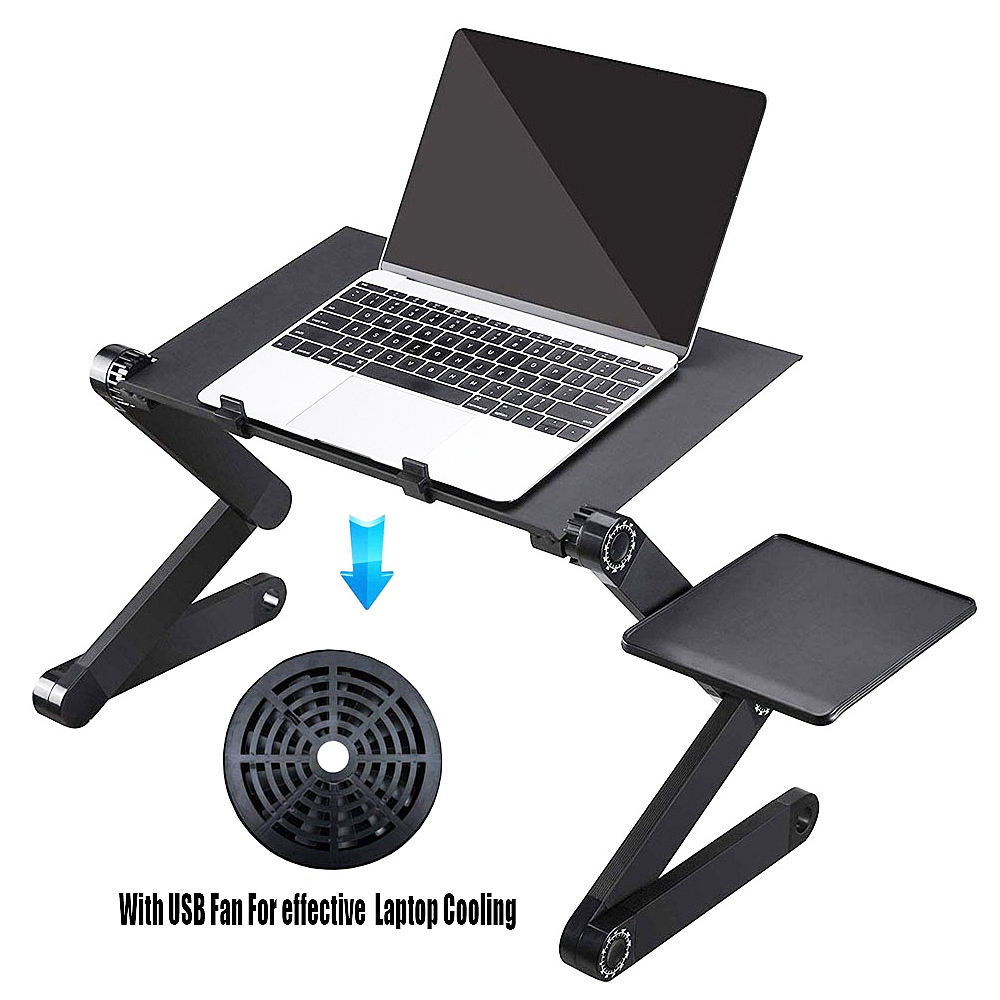Adjustable Laptop Tempat Tidur Meja Portable Laptop Workstation Notebook Stand Membaca Ergonomis Lap Meja Berdiri