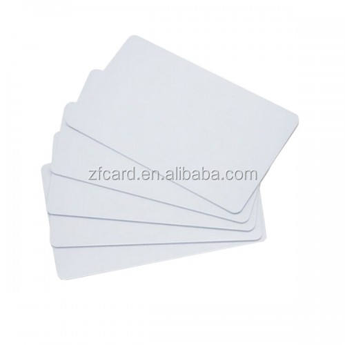 Wholesale price CR80 credit card size plastic white blank pvc cards