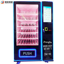 Free Custom  Design  Self Convenience Pink  Hair Wigs Eyelash Vending Machine