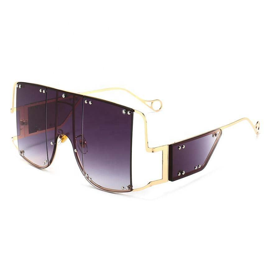 Large Fashion Gradient Personalized Oversized Square Sunglasses Trendy Sun Glasses