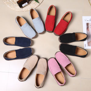 New ladies Vintage Women Flats Suede casual Shoes Woman Candy Color Boat Shoes Breathable Fashion Flat Shoes Tenis Moccasins