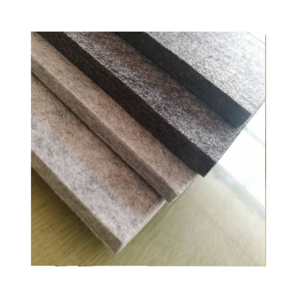 china industry product factory 5mm 7mm 8mm 10mm thick hard felt sheet panel