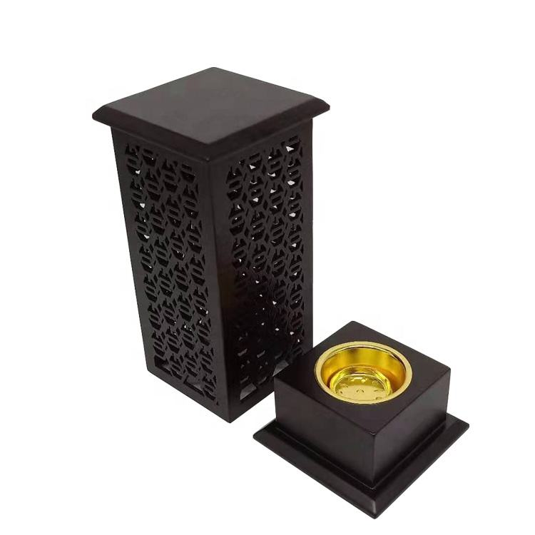 Newest middle east wooden classic incense burner with base square