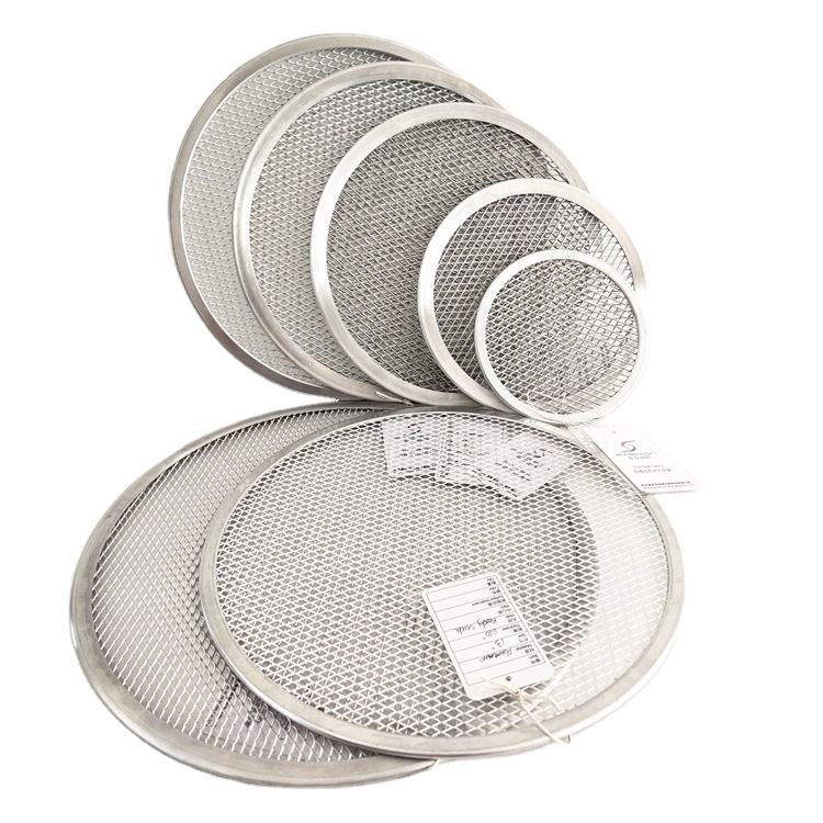 Commercial 16 inch round mesh pizza tray perforated pizza pan baking tray baking pan aluminum pizza screen