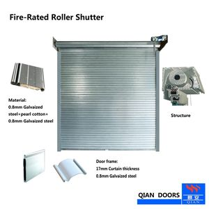 180min Fire Rated Steel Roller Shutter Door Fireproof Door