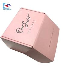 Luxury custom logo corrugated pink color jewelry shipping mailer box