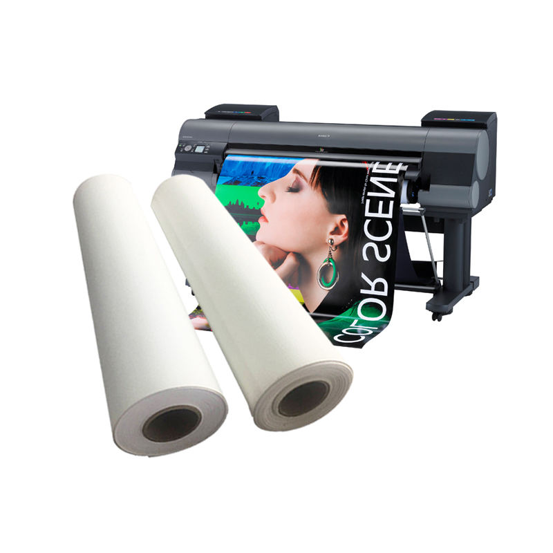Wholesale Matte Polyester Canvas Print Roll 260gsm, Stretched Canvas Paper For Latex Ink Printing