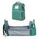 atinfor Foldable Bed Diaper Bag Multifunctional Portable Dolid Mummy Bag Large Capacity Waterproof Mother Baby Bag 16 Pocket