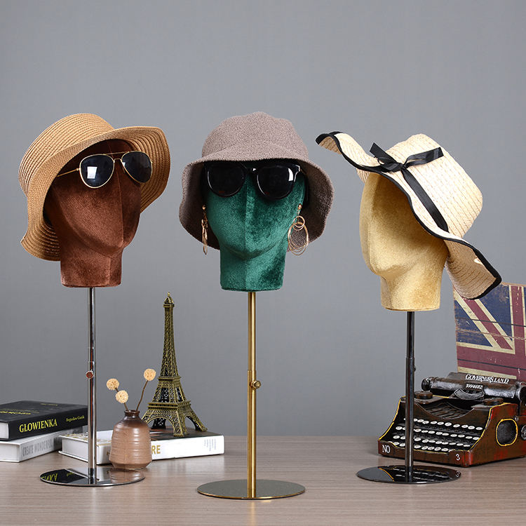 High-end Head Mold Hat Jewelry Scarf Glasses Display Stand 11 Colors Head Mannequin For Display