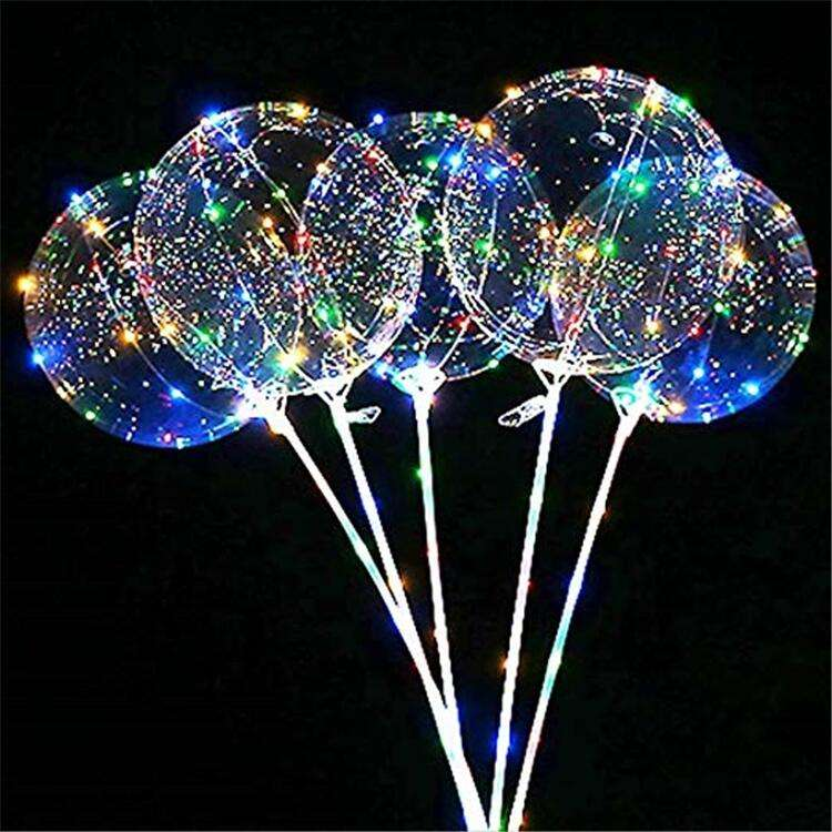Wholesale Bobo Ballon18 Inch Light LED Balloon for Christmas Wedding Party Decoration