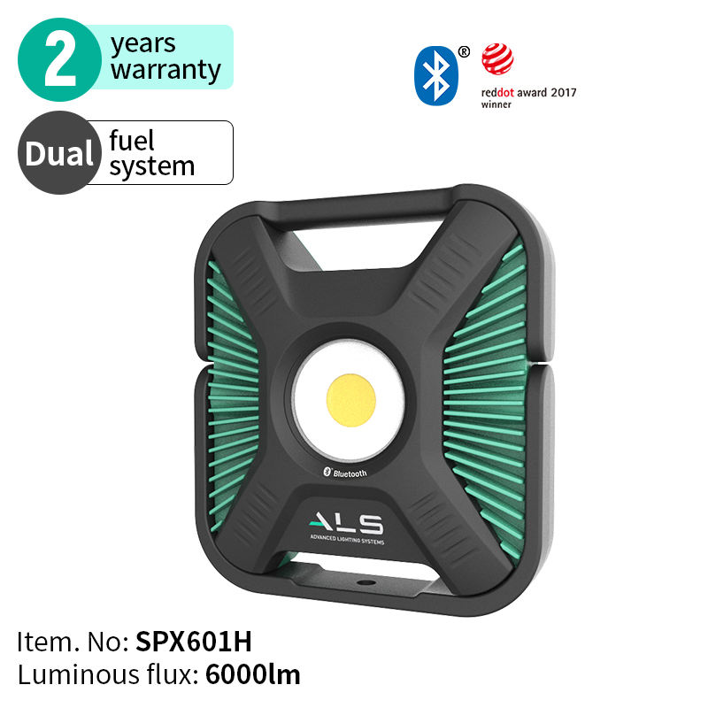 ALS 6000lm Heavy-duty Corded Adjustable Rechargeable Portable Handheld Dual Power LED Spot Light Work Light
