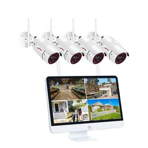 CCTV 4CH 1080P HD Wireless Video Surveillance NVR Kit 3mp WIFI Kamera Sistem Dalam Satu dengan 15 Inch LCD Monitor