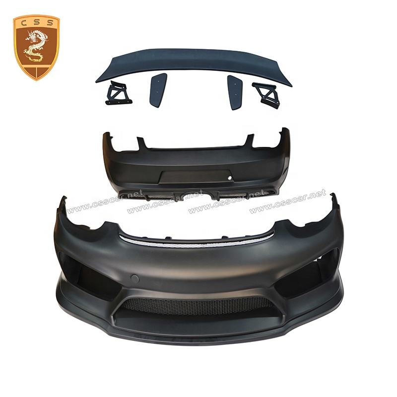 GT4 STYLE AUTO PARTS FIBER GLASS CAR FRONT REAR BUMPER SPOILER BODY KIT MODIFICATION FOR PORSCHE CAYMAN 987