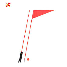 Outdoor kids hanging pvc bike sports safety bicycle flag with pole