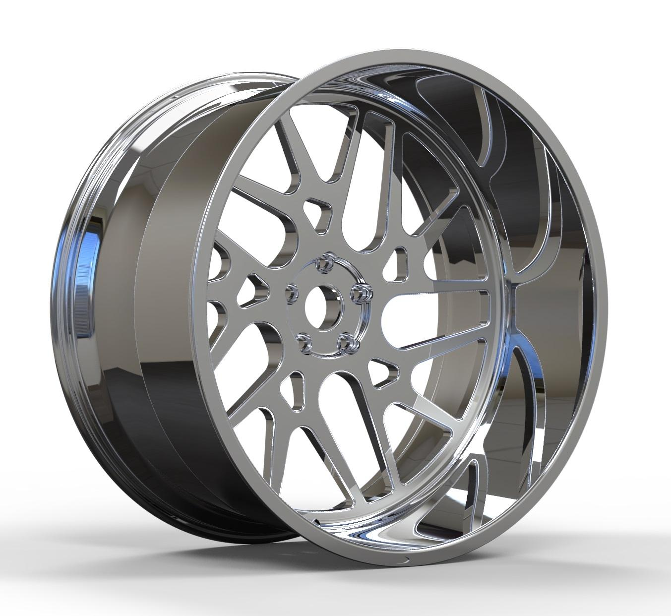 20 21 22 23 24 26'' Deep dish Custom Size Off Road Forged Aluminum Alloy Monoblock Car Wheels For Wholesale
