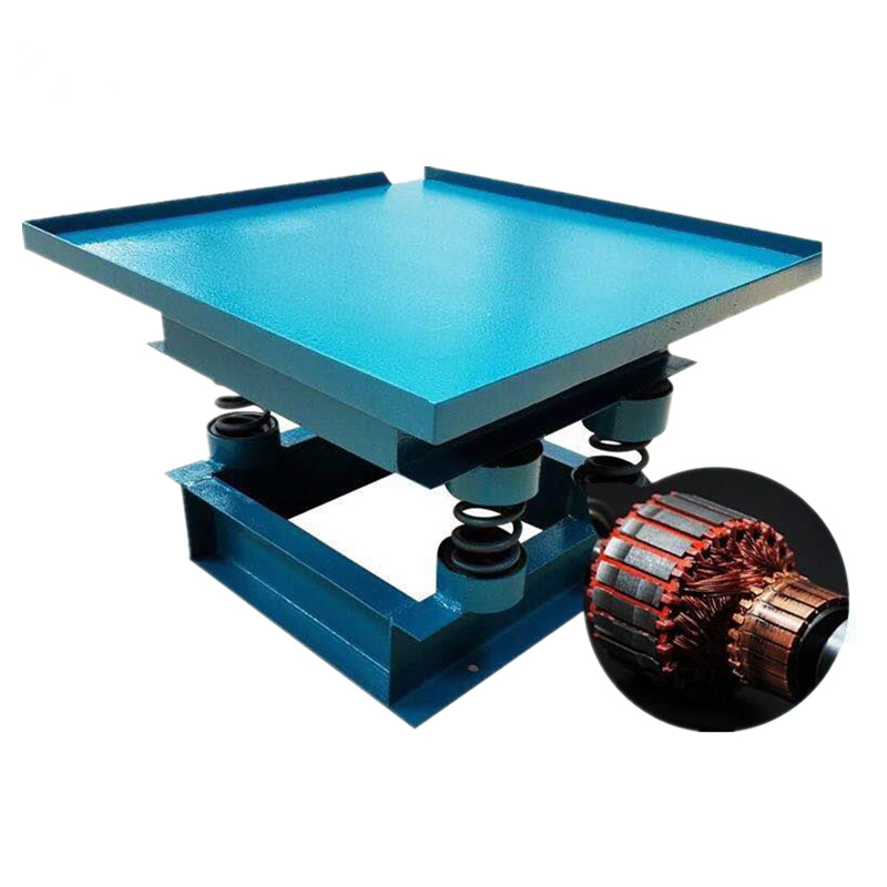 Cheap price vibration table for concrete moulds interlock tile making vibrator table