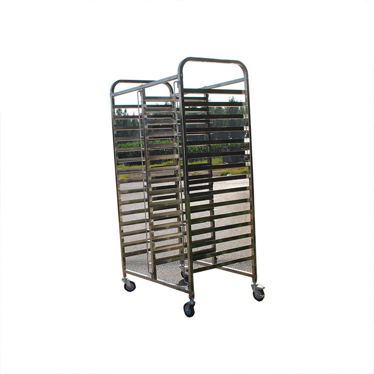 Stainless Steel 32 Trays Cooling Baking Rack Trolley Assembled With Wheels For Roasting Oven