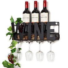 Wholesale Price Metal Wall Wine Rack For Bar Kitchen
