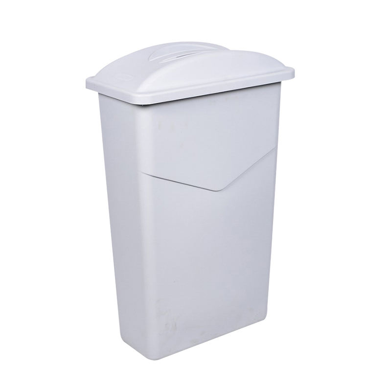 Outdoor size plastic trash can waste bin trash bin dustbin with grey lid