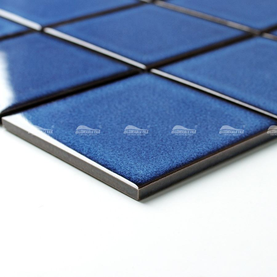 Wholesale Classic Blue 100X100mm Square Bathroom Mosaic China Swimming Pool Tile Manufacturers