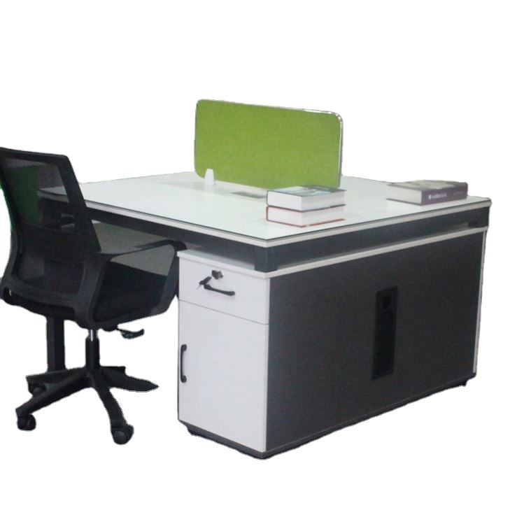 modern appearance office furniture Metal 2 persons computer office desk with drawer