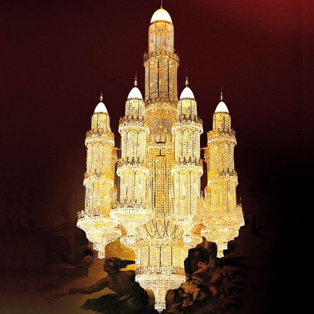 Made in china showsun luxury golden moschea <span class=keywords><strong>lampadario</strong></span> <span class=keywords><strong>di</strong></span> <span class=keywords><strong>cristallo</strong></span>