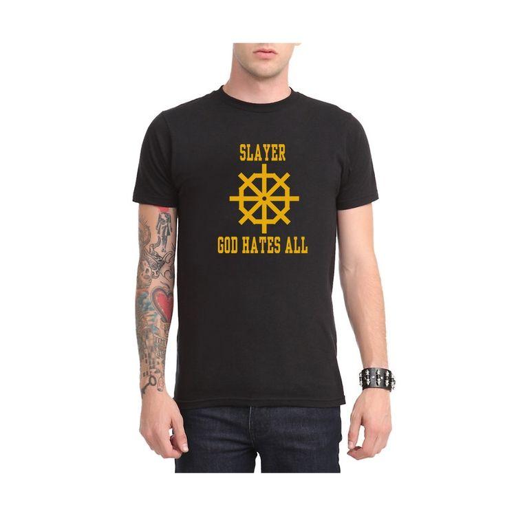 Summer Fashion T Shirt Men God Hates All Mens T-Shirt Rock Band Tees