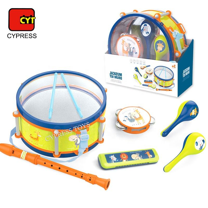 2020 New Style Cartoon Mini Baby Drum Set Musical Instruments