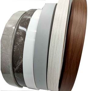 Kayu Butir PVC Tepi Banding Lipping Finishing Tepi Kayu Lapis Tape Finishing Baku