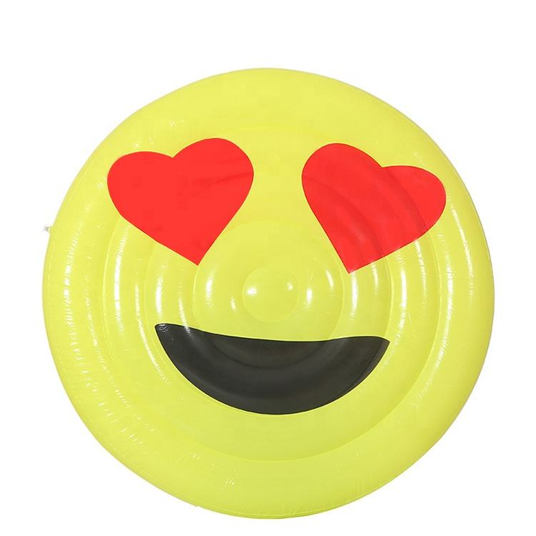 Valentine's day special funny smiley face inflatable emoji pool float pad
