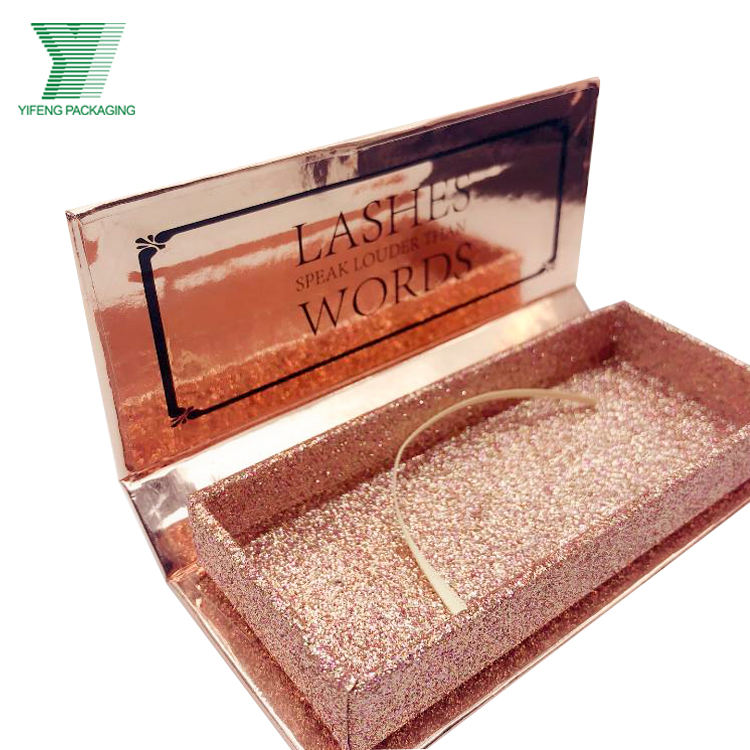 Guangzhou Cosmetic Packaging Wholesale rose gold Lashes Private Label Custom Packaging 25mm 3d Mink Eyelashes eyelash box