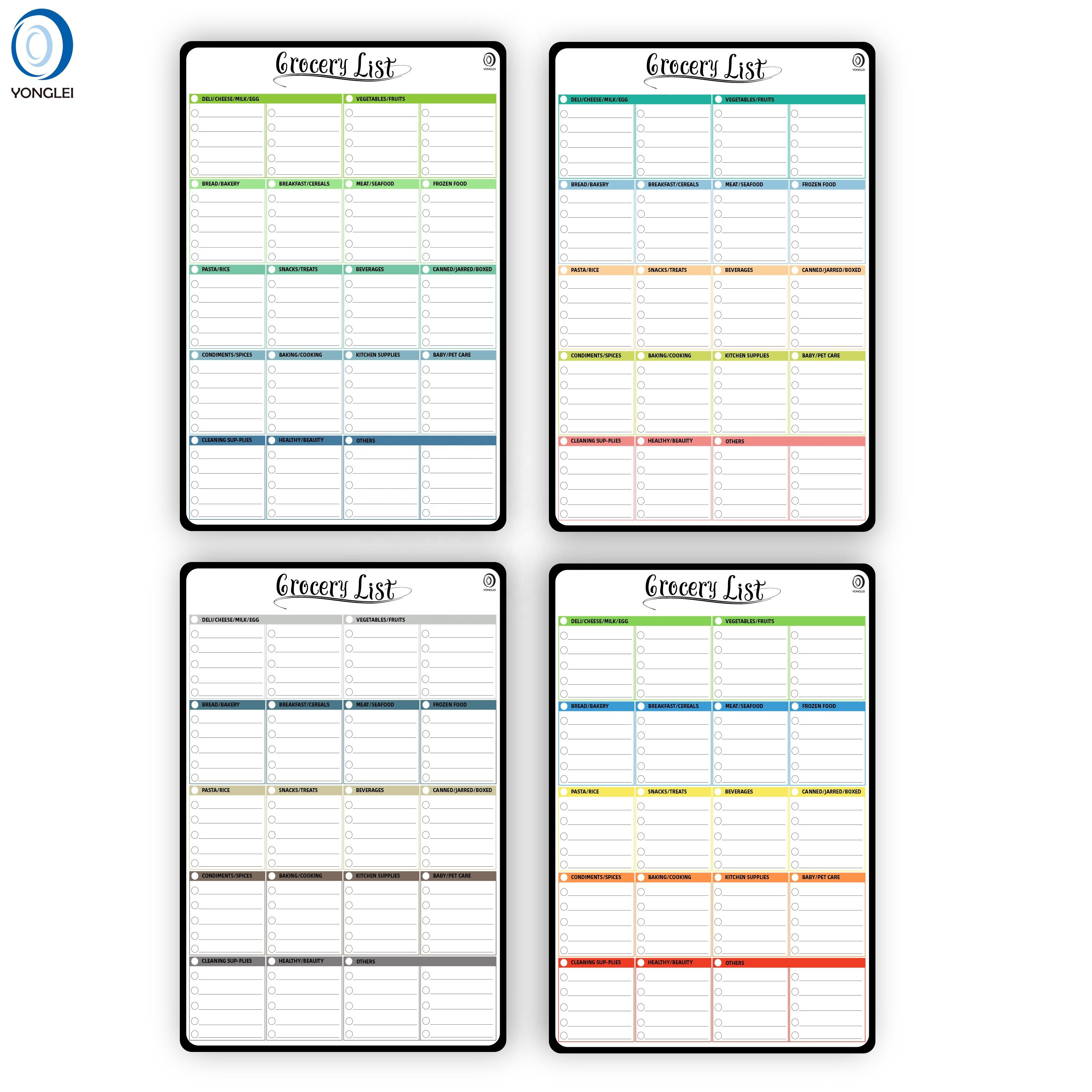 9.2P-10 Nanotechnology dry erase to do list fridge magnet writable fridge magnet notepad