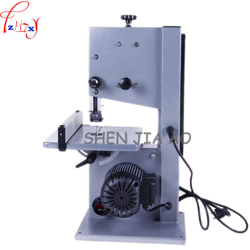 1pc 220V Multifunction Band Saw Machine Woodworking Band-sawing Machine Solid Wood Flooring Installation Work Table Saws