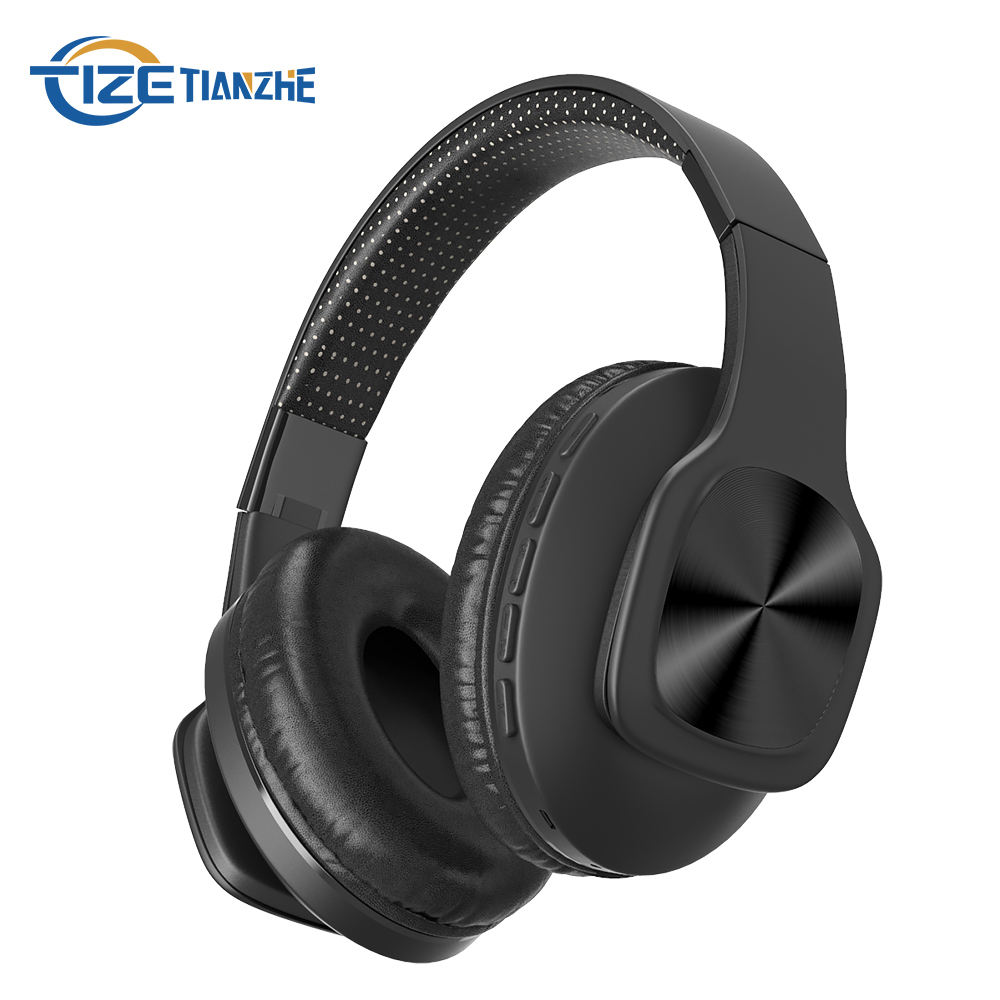 TF Slot Blue tooth headphones Custom Made Logo Customise wireless blue tooth Noise Cancelling custom branded headphones