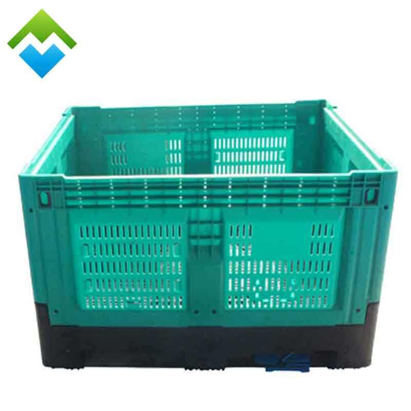 heavy duty Industry used storage plastic pallet box container with wheels