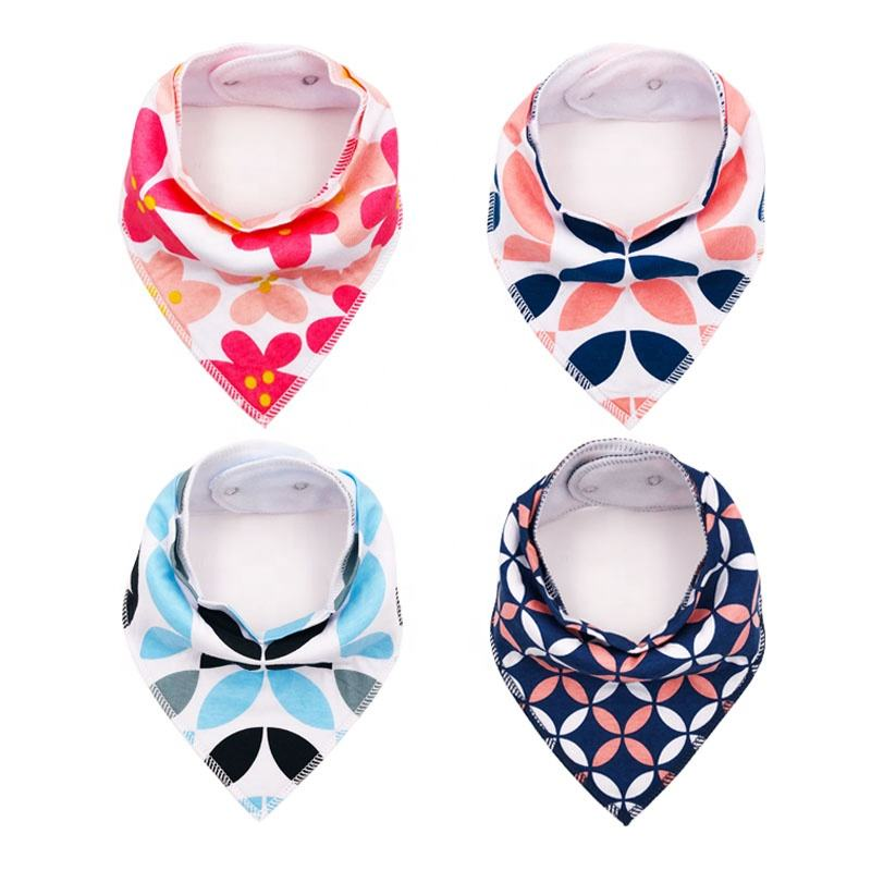 Amazon hot seller baby products for infants Bandana Bibs And Burp Cloth Baby Bibs Cotton